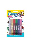 AM GCL10B6: Amos Glitter Glue 6 Colours - Classic